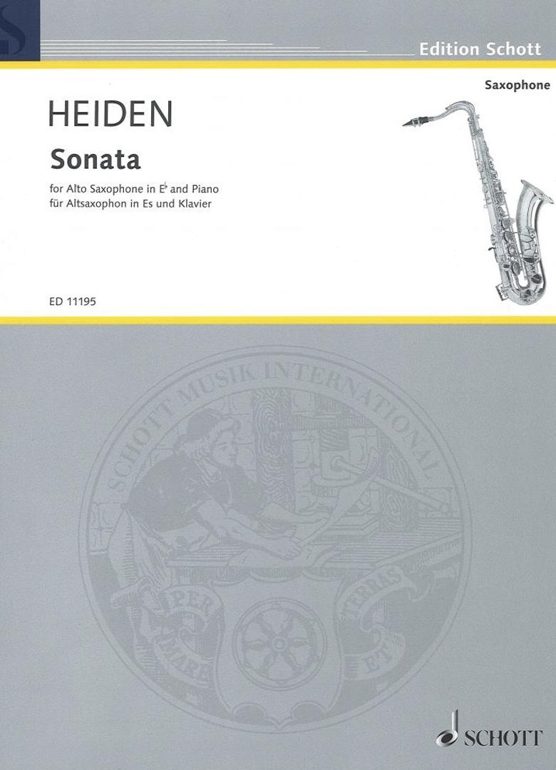 SONATA PARA SAXOFÓN ALTO Y PIANO, BERNHARD HEIDEN
