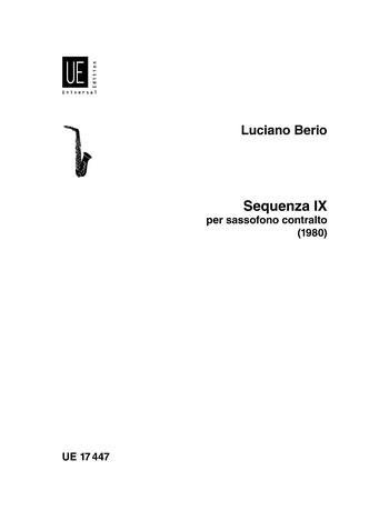 sequenza ix b saxofon berio