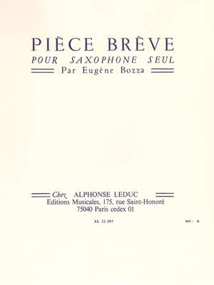 PieceBreve(1955). Bozza, Eugene