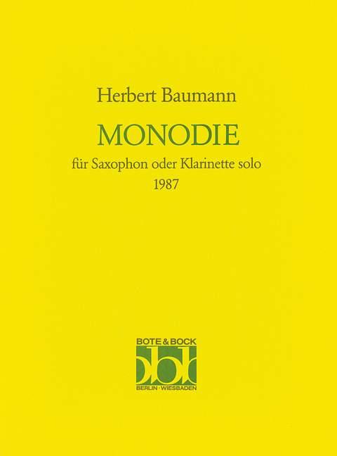Monodie(1987). Baumann,Herbert