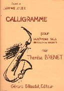 Calligramme (1982). Brenet, Therese