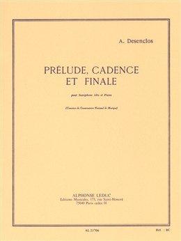 Prelude, Cadence et Finale para saxofón y piano. Alfred Desenclos