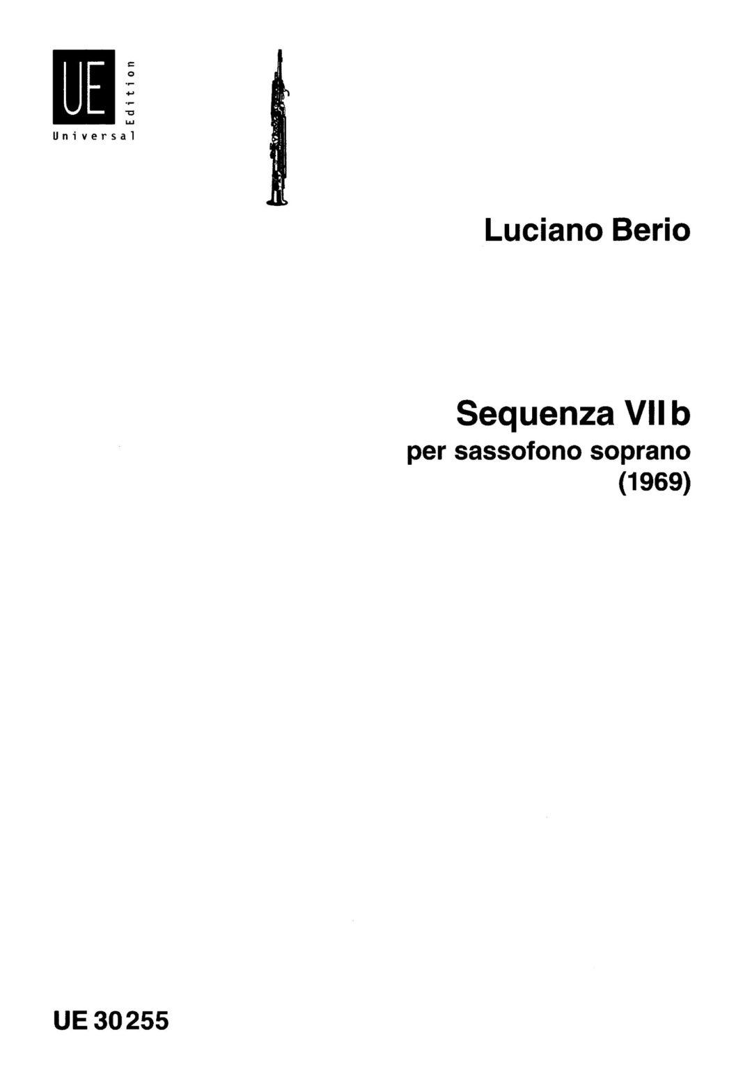 Sequenza VIIb para saxofón soprano. Luciano Berio