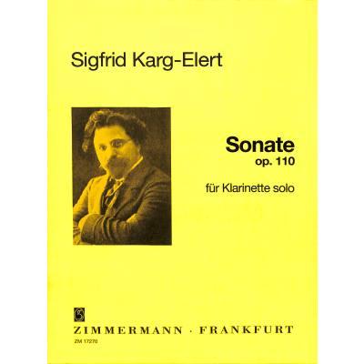 Sonataop.110(1924)para clarinete solo. Siegfried Karg-Elert
