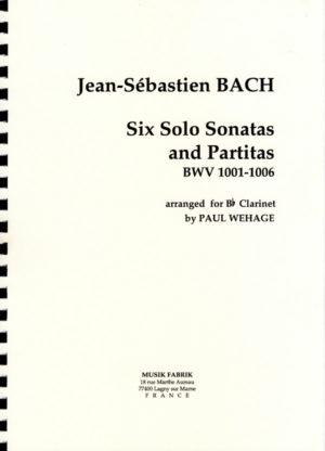 SechsSolo-SonatenundPartitenBWV1001-1006para clarinete solo. JohannSebastianBach
