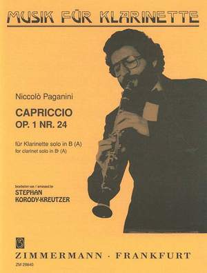 Capriccioop.1No.24para clarinete solo. NiccoloPaganini