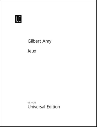 Jeux(1971/2012)solo para saxofón soprano. Gilbert Amy