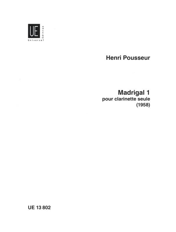 MadrigalI. Henri Pousseur