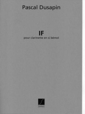 IF(1984)para clarinete en Sib solo. Pascal Dusapin