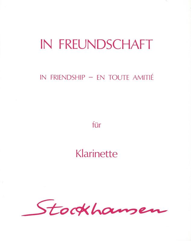 InFreundschaftpara clarinete bajo o solo de trompa.Karlheinz Stockhausen