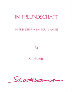 InFreundschaftpara clarinete.Karlheinz Stockhausen