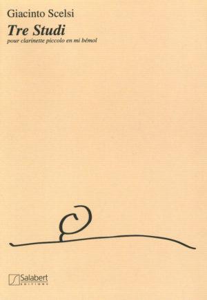 TreStudi(1988)para clarinete Mib solo. Giacinto Scelsi