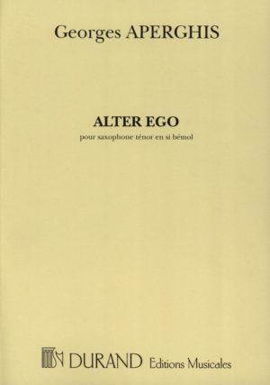 AlterEgo(2002)para saxofón tenor solo.Georges Aperghis