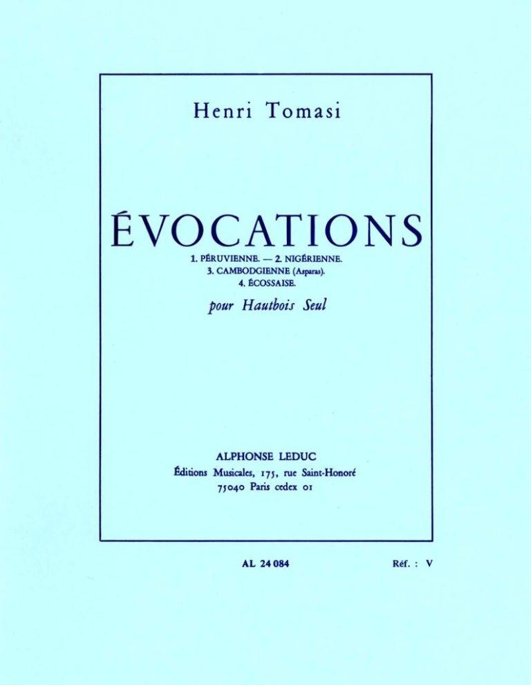 Evocations(1968). Henri Tomasi