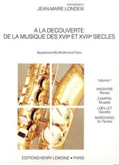 AlaDecouverteVolume1 para saxofón alto y piano.Jean-MarieLondeix