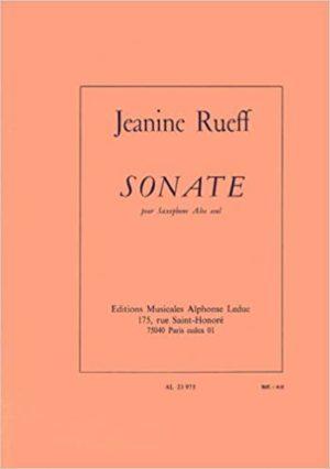 Sonate(1967) para saxofón alto solo. Jeanine Rueff