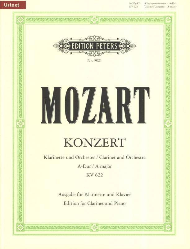 KonzertKV622para clarinete en La y piano. WolfgangAmadeusMozart