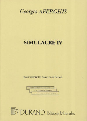 SimulacreIV(1995)para clarinete bajo solo. Georges Aperghis