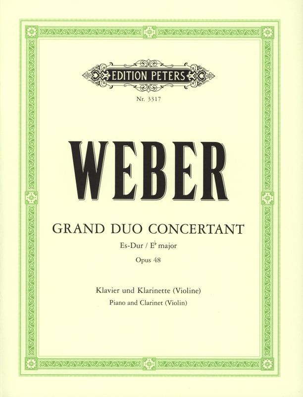 GrandDuoConcertantop.48para clarinete y piano. CarlMariavon Weber