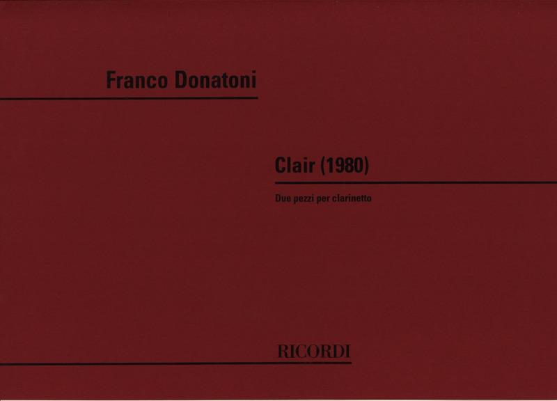 Clair(1980)para clarinete solo. Franco Donatoni