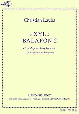 XYLBalafon2 para saxofón alto. Christian Lauba