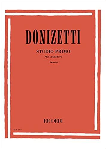 StudioPrimo (1821) para clarinete solo. Gaetano Donizetti
