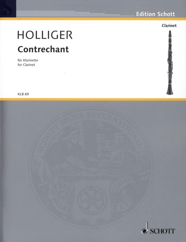Contrechant(2007) para clarinete. Heinz Holliger