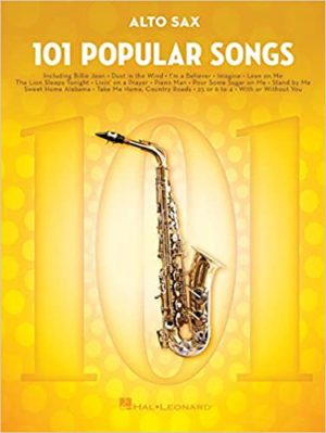 101 Popular Songs para saxofón alto solo. Popular Songs
