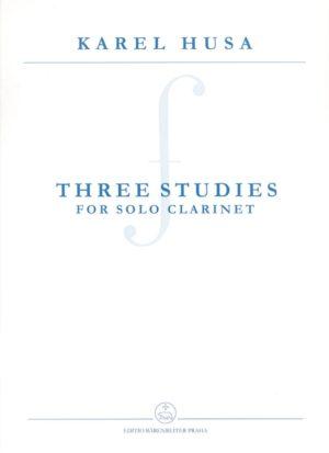 ThreeStudies(2007)para clarinete solo. Karel Husa