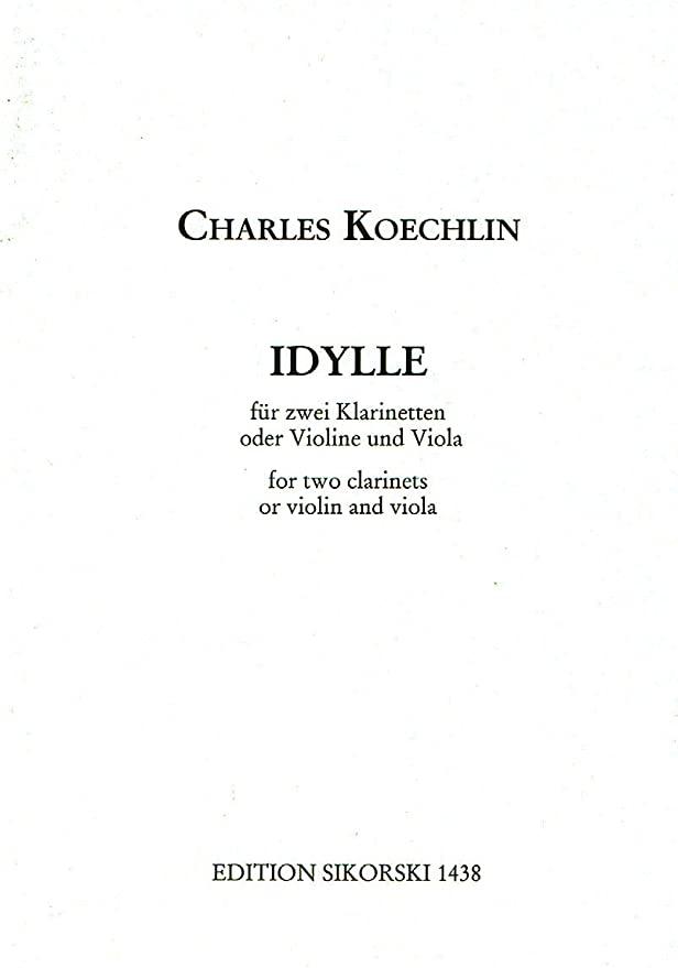 IdyllefürzweiKlarinetten.Charles Koechlin