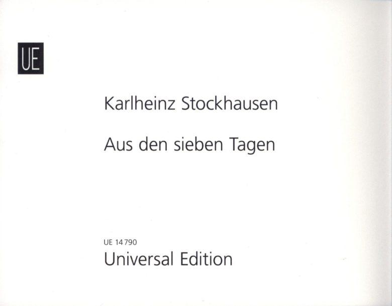 AusdensiebenTagen. Karlheinz Stockhausen