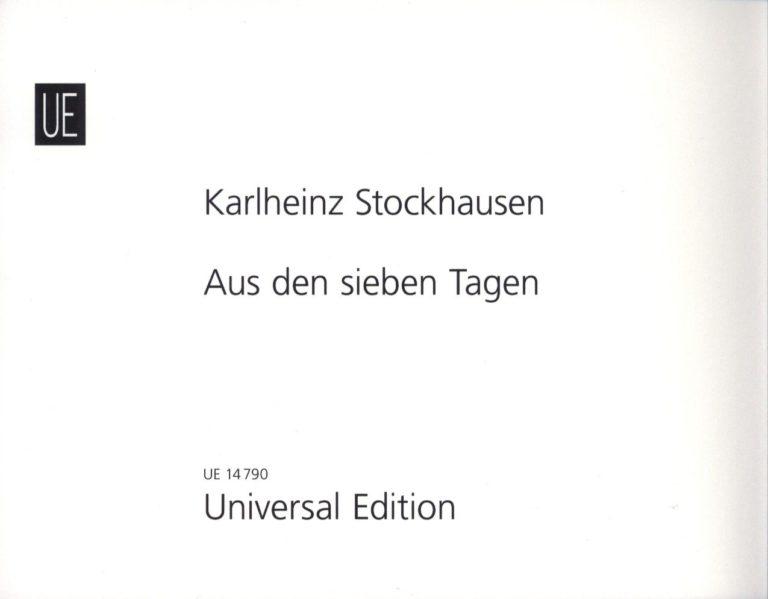 Aus den sieben Tagen (1968) Karlheinz Stockhausen