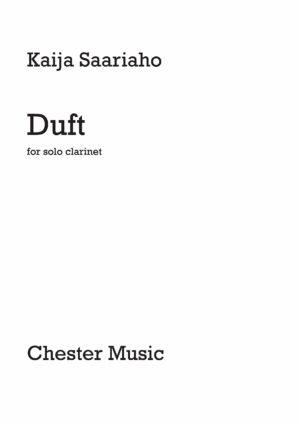 Duft(2012)para clarinete solo. Kaija Saariaho