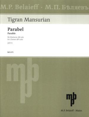 Parabel-Parable(2011)para clarinete solo. Tigran Mansurian