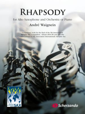 Rhapsody para clarinete y piano. Andre Waignein