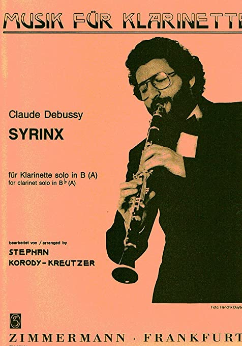 Syrinxineiner para clarinete solo. ClaudeDebussy