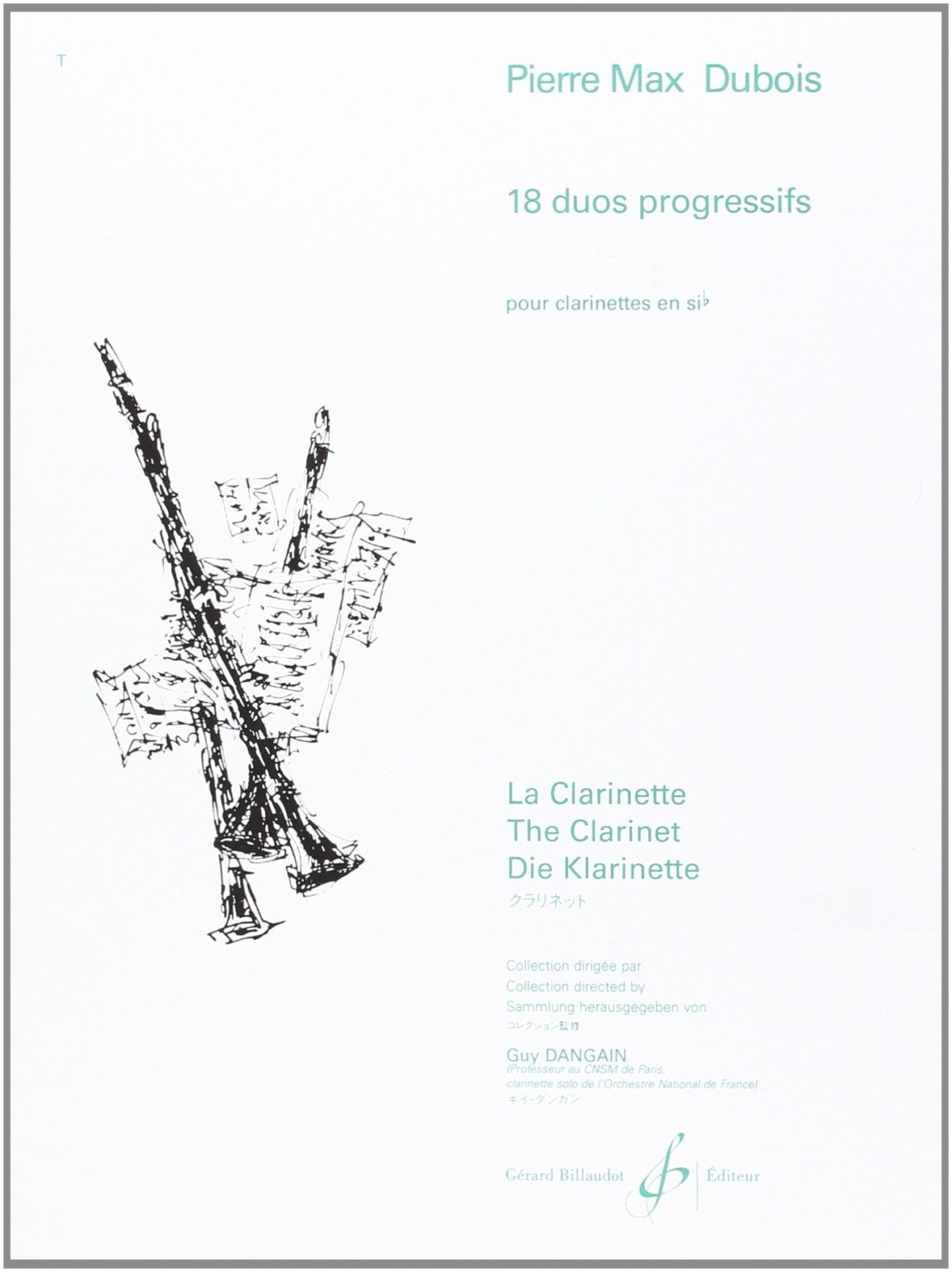 18DuosProgressifspara dos clarinetes.PierreMax Dubois
