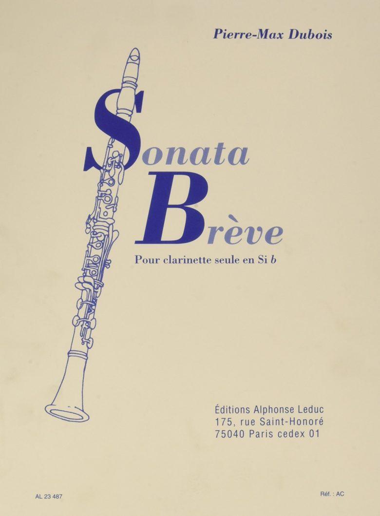 SonataBreve(1965)para clarinete solo. PierreMax Dubois