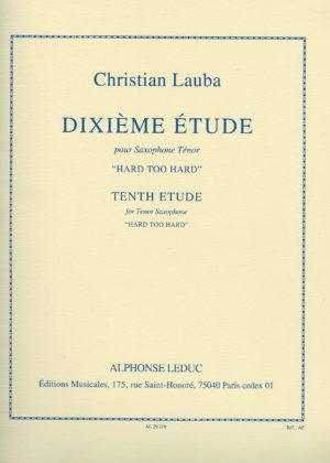 10. Etude 'Hard Too Hard'. Christian Lauba
