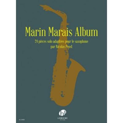 MarinMaraisAbumpara saxofón solo. Marin Marais
