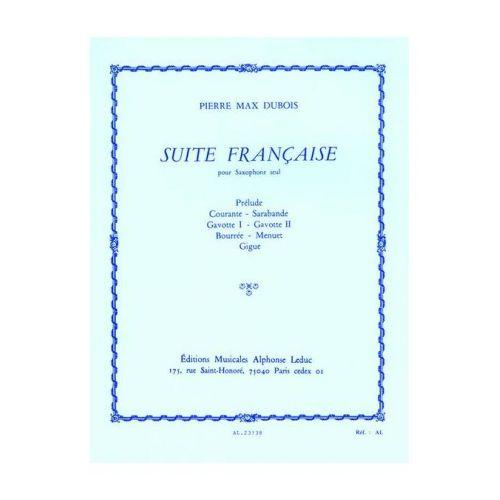 SuiteFrancaise(1962)para saxofón alto solo. Pierre Max Dubois