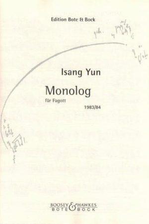 Monolog(1983).Isang Yun