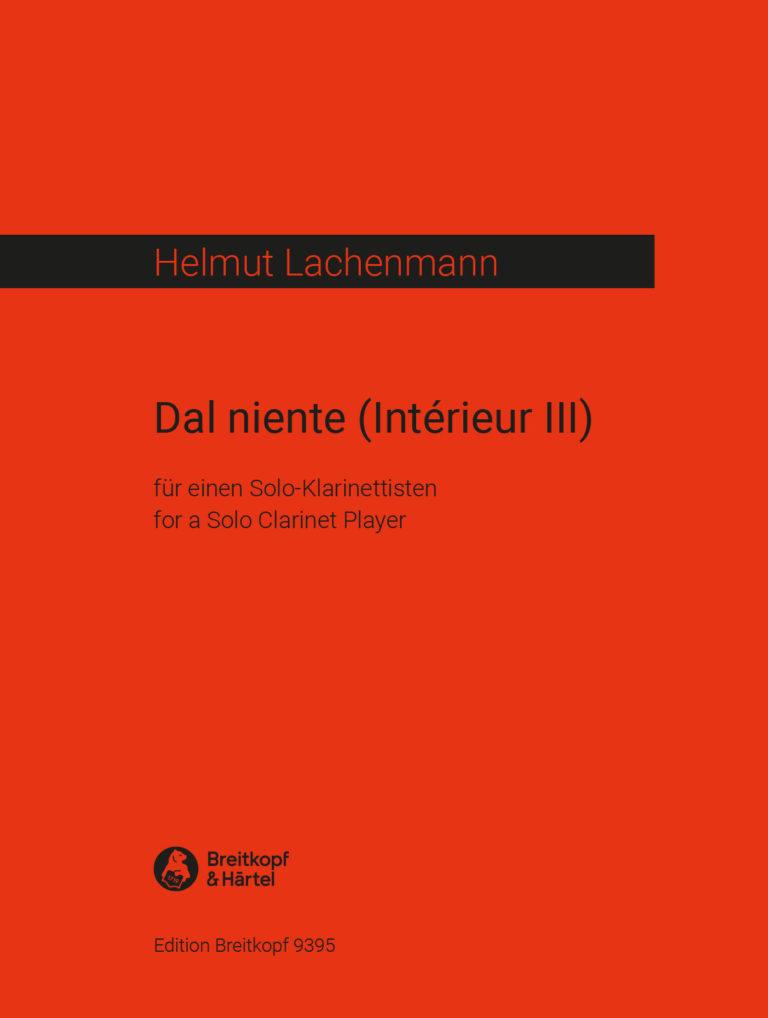 DalNiente,InterieurIII(1970)para un clarinetista solista. Helmut Lachenmann