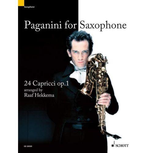 24Capricciop.1 para saxofón alto y soprano solo. NiccoloPaganini