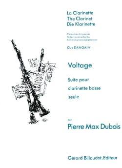 Voltage(1980) para clarinete bajo solo. PierreMax Dubois