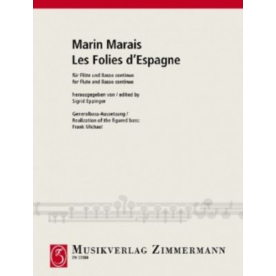 LesFoliesd'Espagnepara clarinete en A o B.MarinMarais