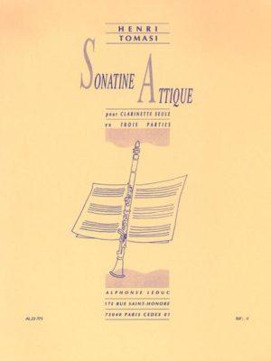 SonatineAttique(1966) para clarinete solo. Henri Tomasi