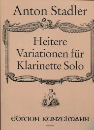 HeitereVariationenpara clarinete solo. AntonStadler