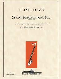 Solfeggiettopara clarinete bajo solo. CarlPhilippEmanuel Bach