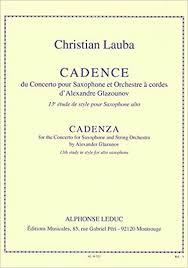 CADENCEduConcertopara saxofón. Christian Lauba